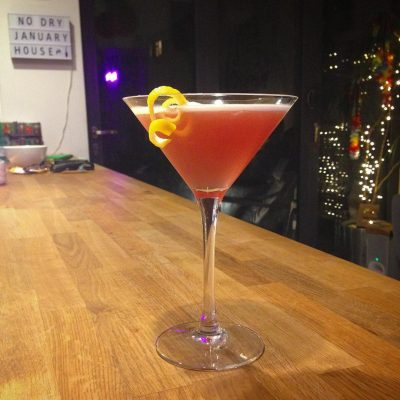 French Martini: Vodka, Chambord & pineapple.