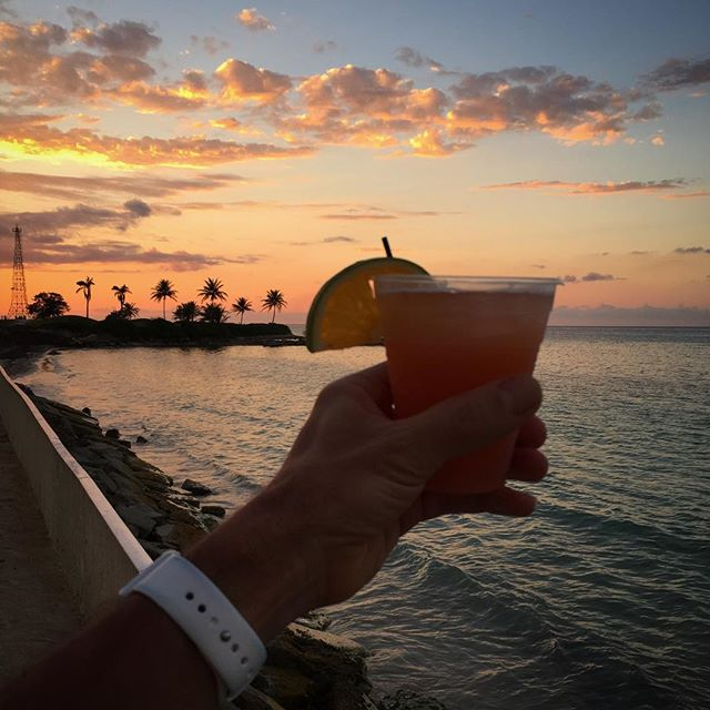 Toasting another day's end