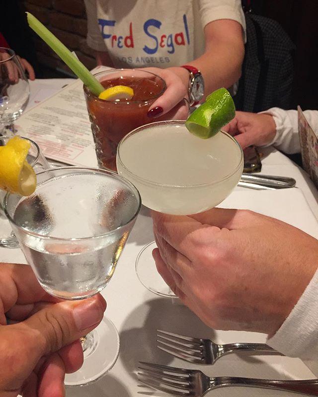 Sunday Martini Gimlet Bloody Mary hat-trick